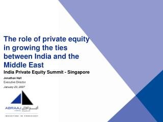 India Private Equity Summit - Singapore