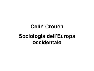 Colin Crouch