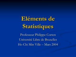 El ments de Statistiques