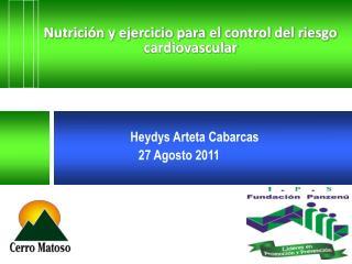 Nutrici n y ejercicio para el control del riesgo cardiovascular