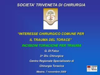 SOCIETA  TRIVENETA DI CHIRURGIA