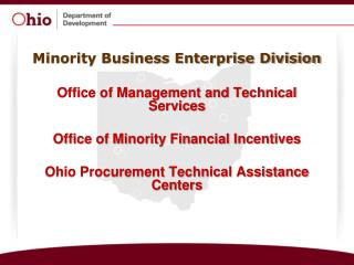 Minority Business Enterprise Division