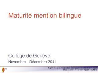 Maturit  mention bilingue