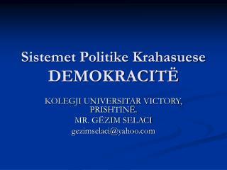 Sistemet Politike Krahasuese DEMOKRACIT