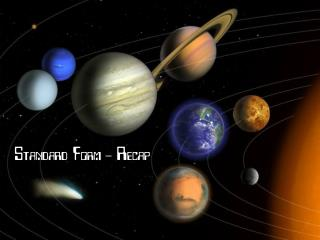 Standard Form - Planets