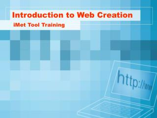 Introduction to Web Creation