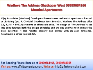 Vijay Associates Wadhwa Group The Address Mumbai Project