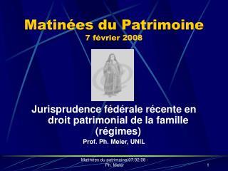 Matin es du Patrimoine 7 f vrier 2008