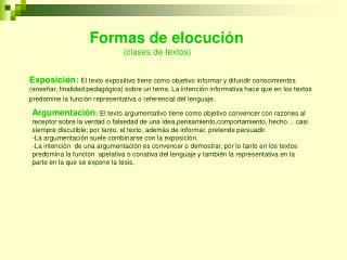 Exposici n: El texto expositivo tiene como objetivo informar y difundir conocimientos ense ar, finalidad pedag gica sobr