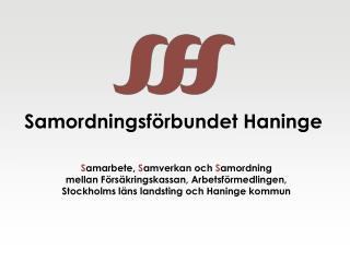 Samordningsf rbundet Haninge
