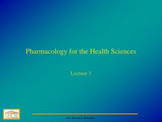 Pharmacology for the Health Sciences