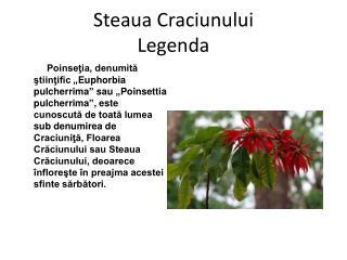 Steaua Craciunului Legenda