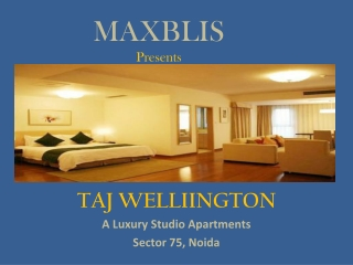 Furnished Luxury Studio Apartment Taj Wellington 9211745471