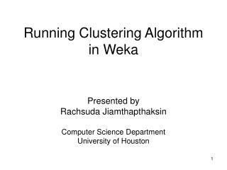 Running Clustering Algorithm in Weka