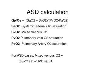 ASD calculation