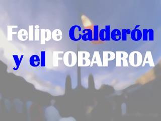 Felipe Calder n  y el FOBAPROA