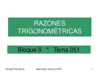 Bloque II      Tema 051