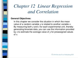 Chapter 12  Linear Regression and Correlation