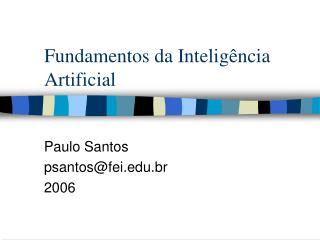 Fundamentos da Intelig ncia Artificial