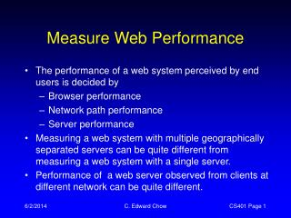 Measure Web Performance
