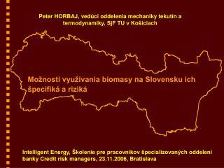 Mo nosti vyu  vania biomasy na Slovensku ich  pecifik  a rizik