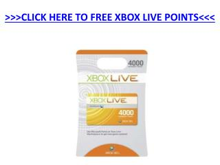 Free Xbox Live Points
