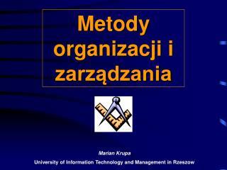 Metody organizacji i zarzadzania