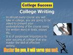 College Writing