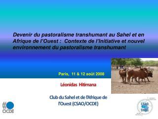 L onidas  Hitimana  Club du Sahel et de l Afrique de l Ouest CSAO