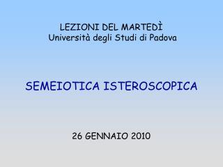 LEZIONI DEL MARTED   Universit  degli Studi di Padova