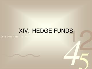XIV.  HEDGE FUNDS