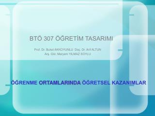 BT  307  GRETIM TASARIMI