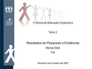 V Oficina de Educa  o Corporativa