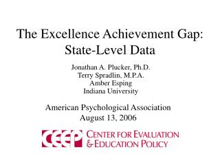 The Excellence Achievement Gap: State-Level Data