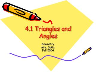 4.1 Triangles and Angles