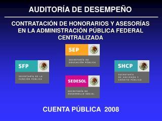 CUENTA P BLICA  2008