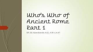 Cicero: Rome s Greatest Orator
