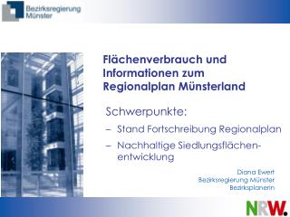 Fl chenverbrauch und Informationen zum Regionalplan M nsterland