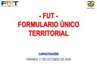 - FUT -  FORMULARIO  NICO TERRITORIAL