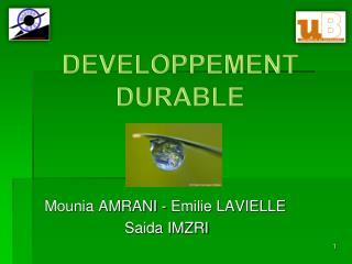 Mounia AMRANI - Emilie LAVIELLE                     Saida IMZRI