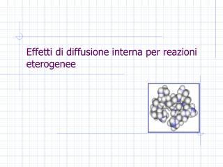 Effetti di diffusione interna per reazioni eterogenee