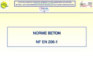 NORME BETON  NF EN 206-1