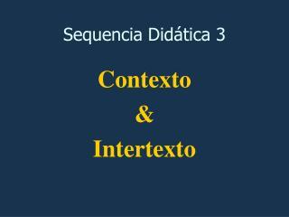 Contexto e Intertexto