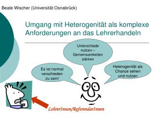Umgang mit Heterogenit t als komplexe Anforderungen an das Lehrerhandeln