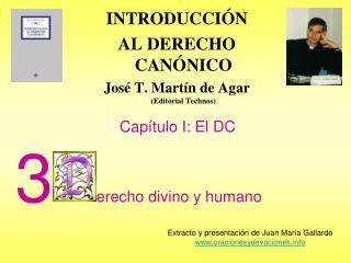 INTRODUCCI N  AL DERECHO CAN NICO Jos  T. Mart n de Agar Editorial Technos