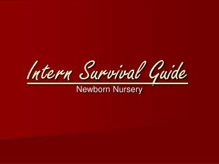 Intern Survival Guide