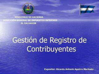 Gesti n de Registro de Contribuyentes
