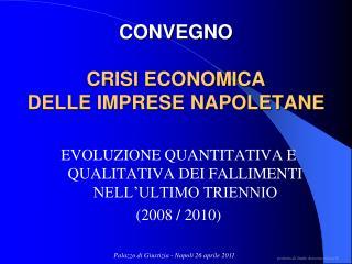 CONVEGNO  CRISI ECONOMICA  DELLE IMPRESE NAPOLETANE
