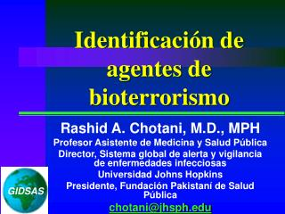Identificaci n de agentes de bioterrorismo