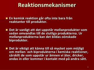 Reaktionsmekanismer
